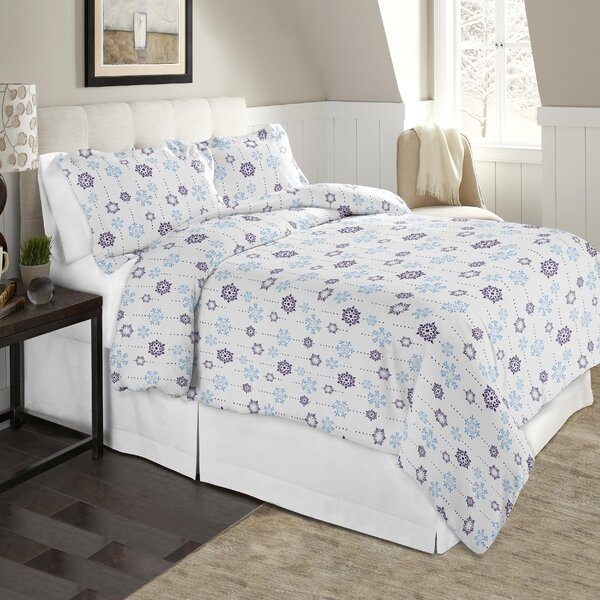 Snow Drop Flannel 100% Cotton Sheet Set by Pointehaven